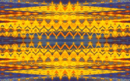 Yellow And Purple Pattern
