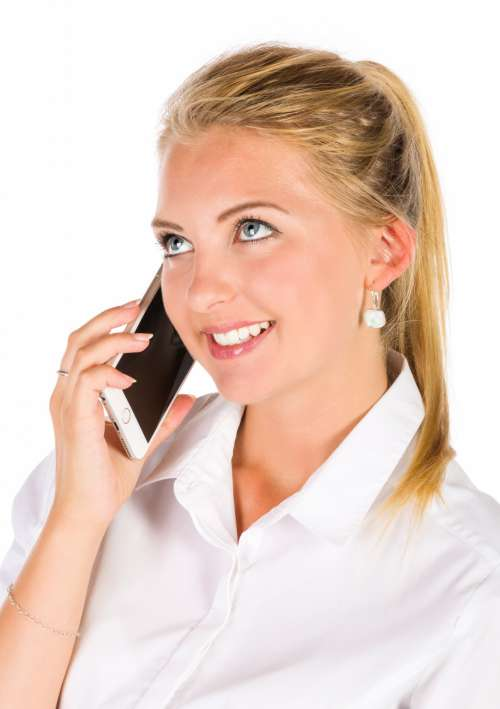 Woman Talking On A Phone