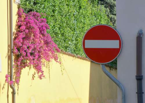 stop sign street europe road