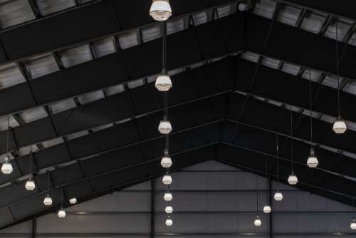 building ceiling abstract interior light