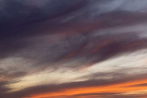 vibrant sunset clouds sky nature
