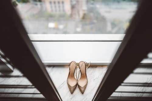 wedding shoes heels footwear bokeh