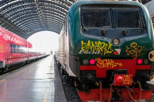 Graffiti on an Old and Dirty Train