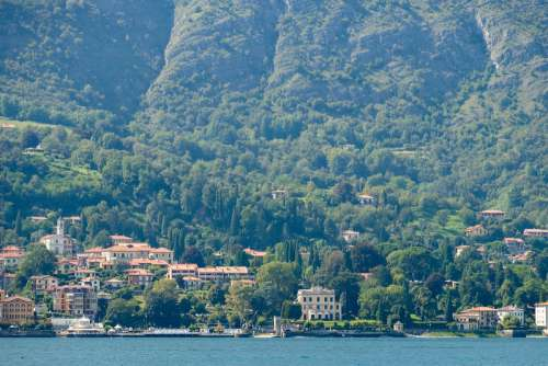 Several Villas at the Coast of Como Lake