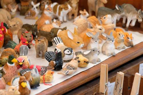 Handmade Wooden Animals Sculpture Souvenirs