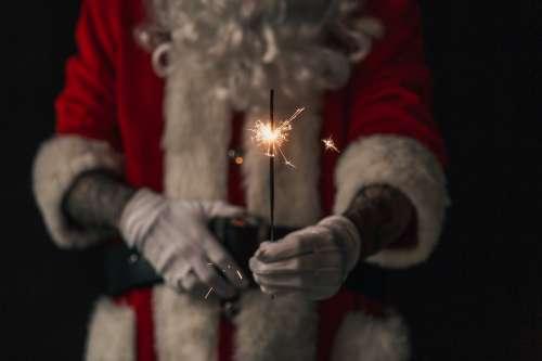 Sparkling Santa Photo