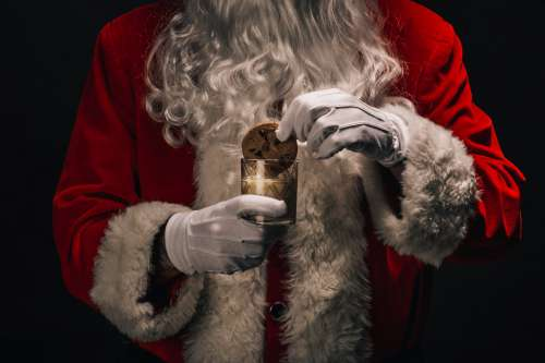 Cookie And Milk For Santa Photo