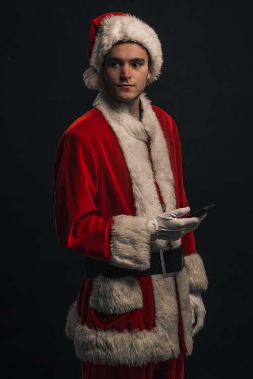 Santa Forgets his Beard Photo
