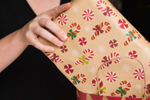 Packing Christmas Gifts Photo
