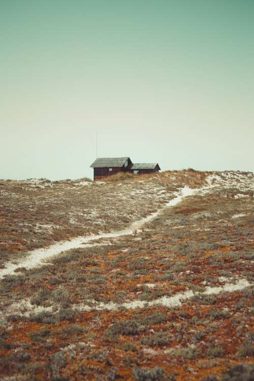 Small Cabin On Hill Photo