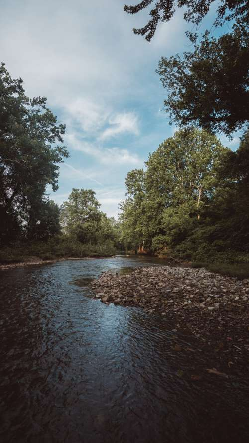 Meandering Shallow River Photo