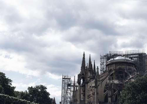 Scaffolding On Church Photo