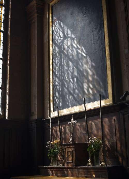 Church Altar And Sunlight Photo