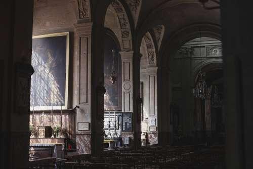 Sunlight In Church Photo