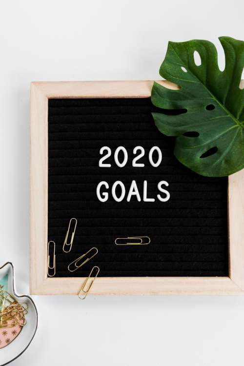 2020 Goals Letterboard Photo