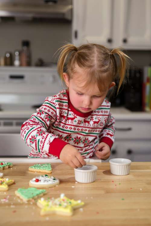 Child Baking At Christmas Photo