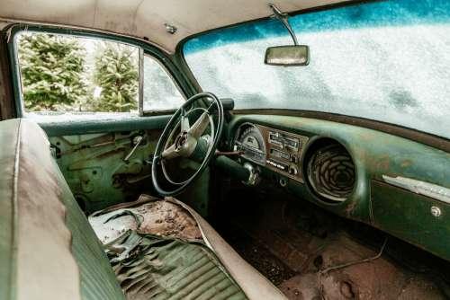 Junkyard Car Interior Photo