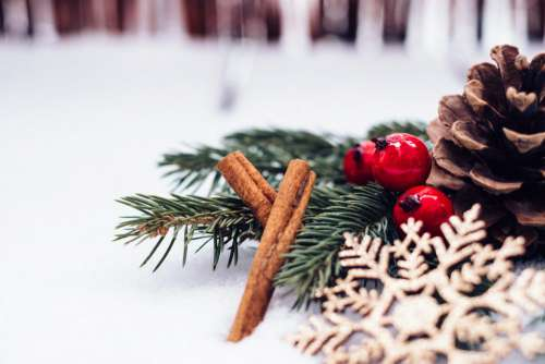 Christmas spruce decoration 5