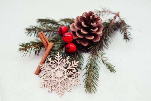 Christmas spruce decoration