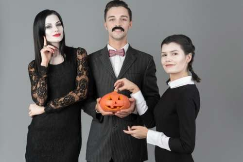 Addams Family Ready To Celebrate Halloween