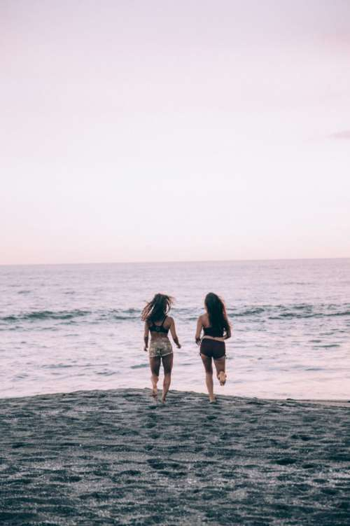 Women Beach Play