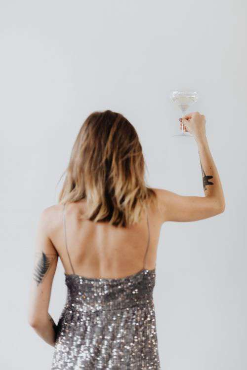 Woman Celebrating New Year