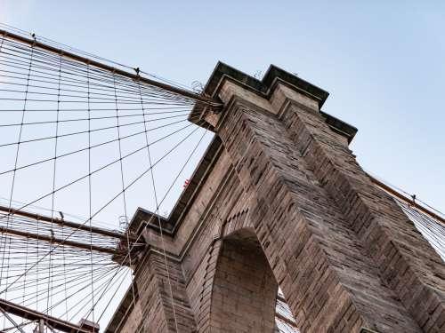 Brooklyn Bridge Under Sunset