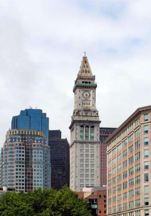 Ornate Clock Building Free Photo