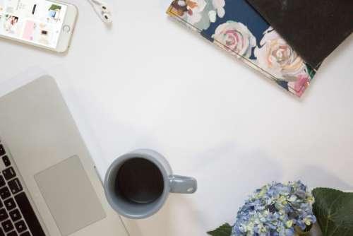 Laptop Coffee Flat lay Free Photo