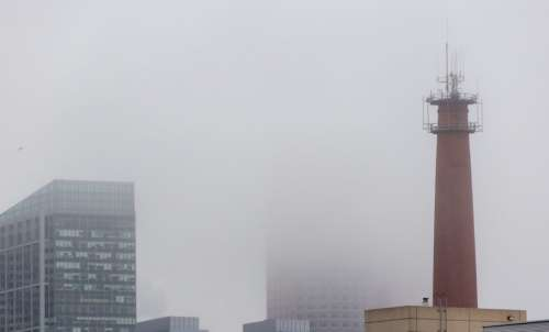 City Fog Buildings Free Photo