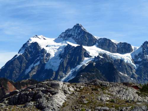 Snow Mountain Landscape Free Photo