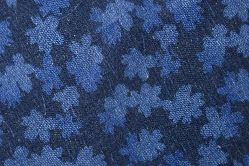 Blue Floral Fabric Free Photo