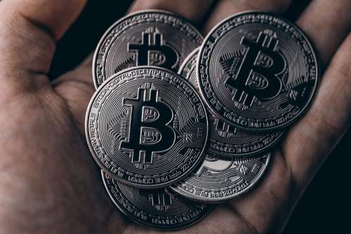 Dark Black Bitcoins Free Photo