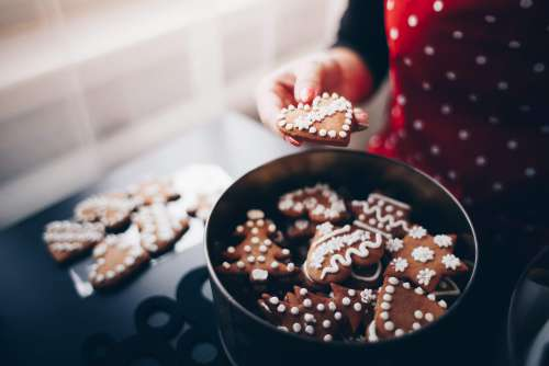 Sweet Christmas Gingerbread Cookies Free Photo