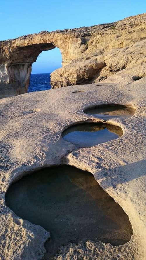 Malta Rock Sea Mediterranean Nature Coast Ocean