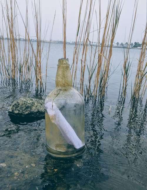 Message In A Bottle Ocean Bay Glass Bottle