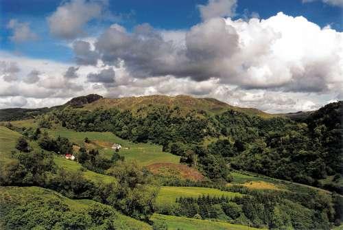 Scotland Clouds Landscape Forest