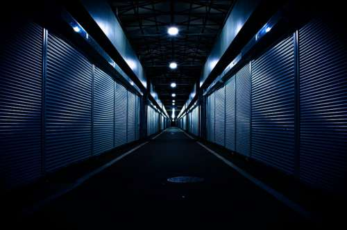 Dark Mood Architecture Market Night Light