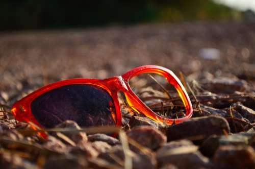 Glasses Desert Broken Abandoned Dessert Landscape