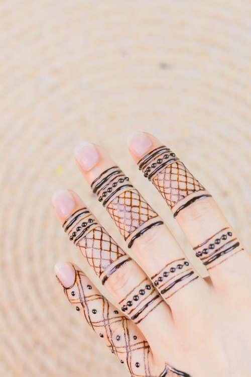 Henna Hands Mehendi Pattern Female Palms Design