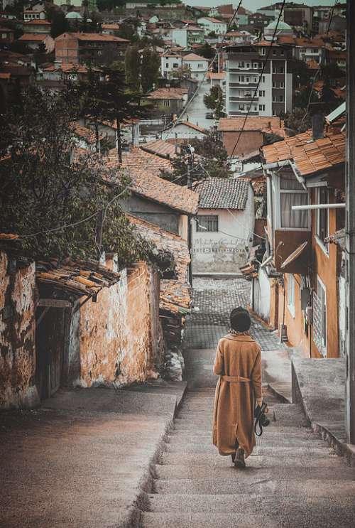 Street Islamic Girl Old Walk Urban Turkey Ghetto