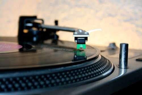 Dj Music Audio Party Vinyl Sound Turntable Mixer