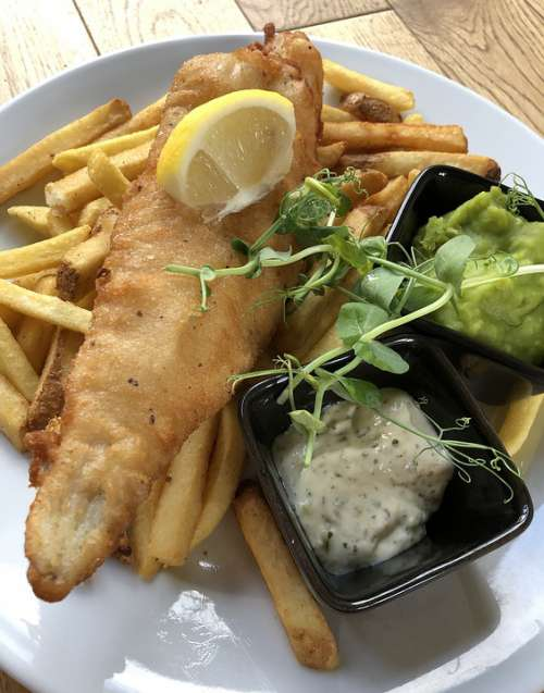 Fish Chips Food Seafood Meal