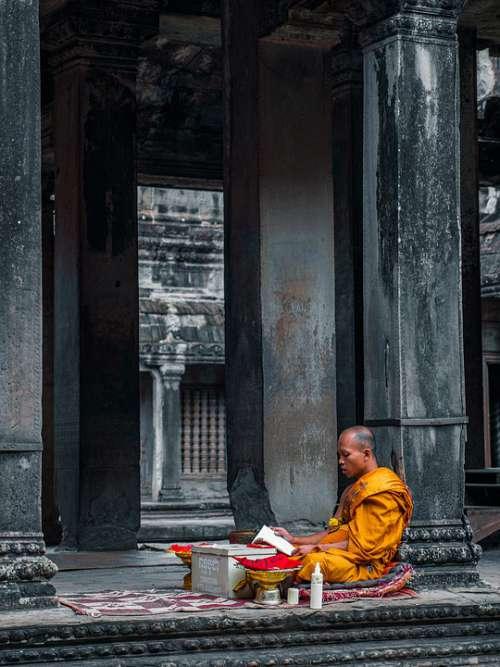 Monk Temple Meditation Buddha Buddhism Religion