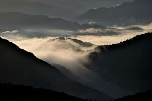 Sea Of Clouds Mountain Natural Landscape Cloud