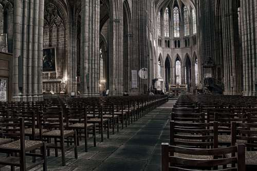 Cathedral Limoges Church Religion Prayer