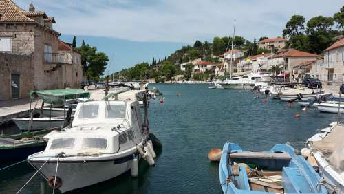 Port Boat Architecture Sea Croatia Vacations Brac