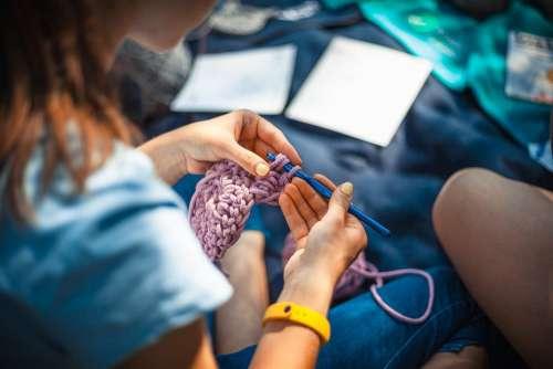 Needlework Thread Hobby Knitting Craft Fashion
