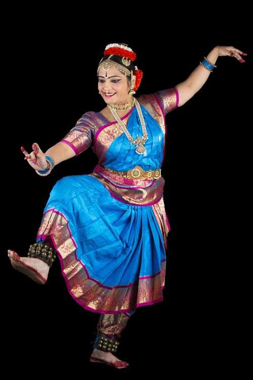 Bharatanatyam Dancer Indian Culture Classical Pose