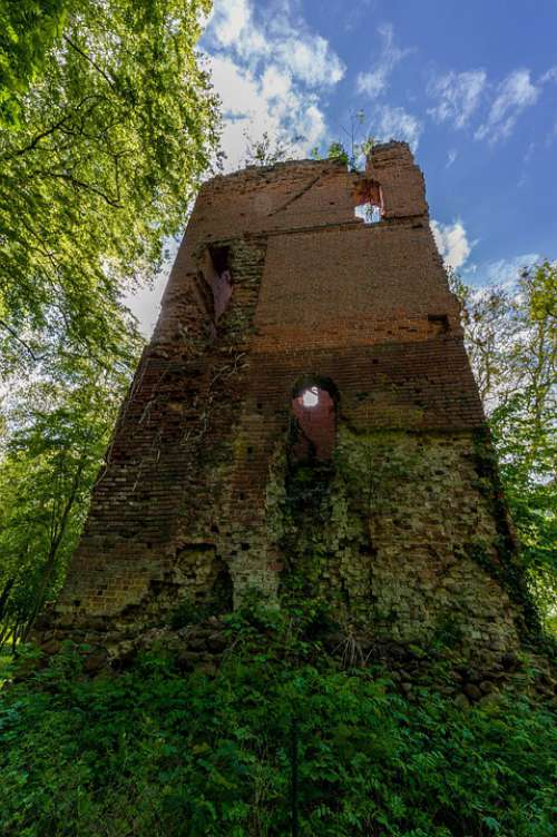Castle Tower Middle Ages Europe Break Up